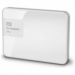 Hard Disk Extern Western Digital My Passport Ultra 1TB USB 3.0 Brilliant White