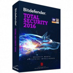 Antivirus BitDefender Total Security 2016, Licenta noua, Retail, 1 Licenta, 1 An