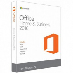 Microsoft Office Home and Business 2016, [Pentru firme mici], Medialess, FPP, 1 PC, 32/64 bit, Engleza