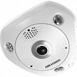 Camera IP Hikvision DS-2CD6332FWD-IVS, Dome Fisheye, 3MP, IR, Audio, MicroSD, Exterior, Alb