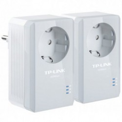 PowerLine TP-LINK TL-PA4010PKIT, Port Ethernet, Max. 500Mbps, Priza, Kit 2 adaptoare
