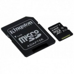 Card memorie Kingston MicroSDXC 64GB Clasa 10 UHS-I [Adaptor SD]