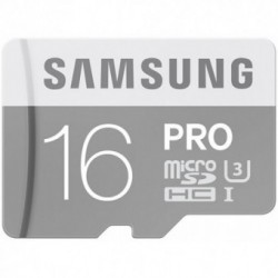 Card memorie SAMSUNG MicroSDHC Pro 16GB, Clasa 10 UHS-I [Adaptor SD]