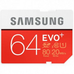 Card memorie SAMSUNG SDXC Evo Plus 64GB, Clasa 10 UHS-I