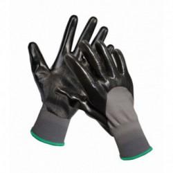 Manusi tricotate fara cusaturi acoperite 3 cu nitril negru pe palme si degete. Manseta elastica FIELDFARE se comanda doar multiplu de 12