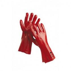 Manusi cusute - tricot interlock din bumbac imersate in PVC disponibile in lungime 35 cm. HS-04-004 se comanda doar multiplu de 12