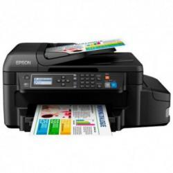 Multifunctionala Inkjet Epson L655, CISS, Format A4, Retea, Wireless, Fax