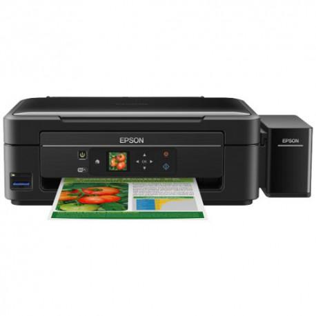 Multifunctionala Inkjet Epson CISS Color L455, Format A4, 33ppm, Wireless