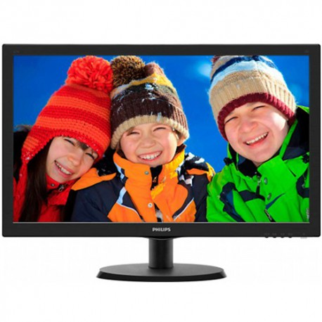 Monitor LED Philips V-line 223V5LHSB2/00, 21.5 inch, 1920x1080, 5ms, D-Sub, HDMI, Negru