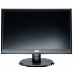 Monitor LED AOC e950Swdak, 18.5 inch, 1366x768, 5 ms, D-Sub, DVI-D, Boxe integrate, Negru