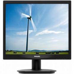 Monitor LED Philips 17S4LSB/00, 17 inch, 1280 x 1024, 5 ms, Format 5:4, D-Sub, DVI-D, Negru