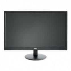 Monitor LED AOC e2470Swda, 24 inch, 1920 x 1080, 5 ms, VGA, DVI, Negru
