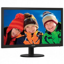 Monitor LED Philips 243V5LSB/00, 23.6 inch, 1920x1080, 5 ms, VGA, DVI-D, Negru