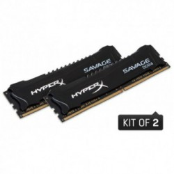 Memorie Kingston DDR4 16GB (2x 8GB) 2400MHz CL12 HyperX Savage Black