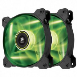 Ventilator PC Corsair SP120 LED Green High Static Pressure 120mm [Twin Pack]