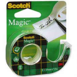 Dispenser Cu Banda Adeziva 19 mm x 7.5 m Magic Scotch 3M