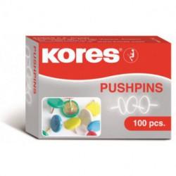 Pioneze Colorate 100 Buc/Cutie Kores
