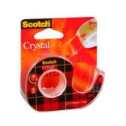 Dispenser cu banda adeziva 19mm*7.5m Crystal Scotch 3M