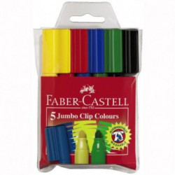 Carioca Cu Clip 10 Culori Jumbo Faber-Castell