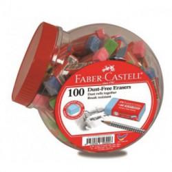 Radiera Creion Dust-Free Pastel Borcan 100 Buc Faber-Castell