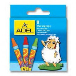 Creioane Cerate 8 Culori Adel