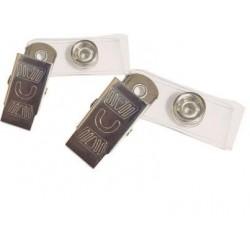 Clips plastic + metal pentru ecuson