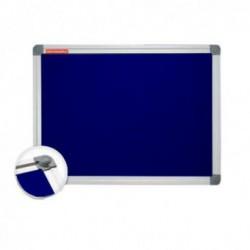 Panou Textil 100x150 Cm Albastru Rama Aluminiu Memoboards