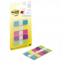 Index Plastic 12 x 43 mm 5 culori 20 File/Culoare Post-It 3M