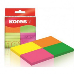 Notes Adeziv 40 x 50 mm 4 Culori Neon x 50 File Kores