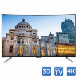 Televizor LED Panasonic 3D VIERA TX-55CR430E, 139 cm (55 inch), Ultra HD 4K, Curbat, RMR 400Hz, Wi-Fi, Smart TV