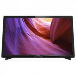 Televizor LED Philips 24PHH4000/88, 61 cm (24 inch), HD Ready, PMR 100Hz, Digital Crystal Clear, D-Sub, 2x HDMI, USB, Negru