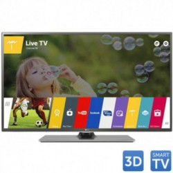 Televizor LED LG 3D Cinema 55LF652V, 139 cm (55 inch), Full HD, IPS, Triple XD Engine, Rama metalica, Wi-Fi, webOS 2.0, Smart TV