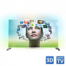 Televizor LED Philips 3D 48PFS8209/12, 121 cm (48 inch), Full HD, Perfect Pixel HD, PMR 800Hz, Quad Core, Ambilight, Smart TV, Android 4.2