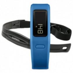 Accesoriu telefon mobil Garmin Bratara electronica Vivofit, Monitor pentru masurarea ritmului cardiac, Diplay LCD, Accelerometru, Albastru