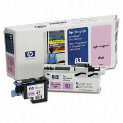 Cap Imprimare & Cleaner Light Magenta Nr.81 C4955A Original Hp Designjet 5000