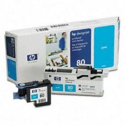 Cap Imprimare & Cleaner Cyan Nr.80 C4821A Original Hp Designjet 1050